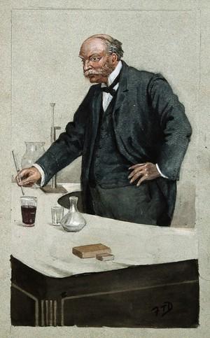 view John William Strutt, 3rd Baron Rayleigh. Watercolour by F. T. Dalton, 1899.