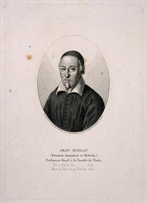 view Jean Riolan. Stipple engraving by A. Tardieu.