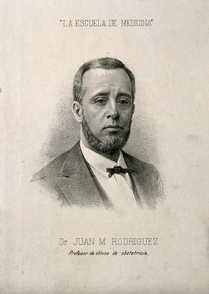 view Juan Maria Rodriquez. Lithograph, 1888.