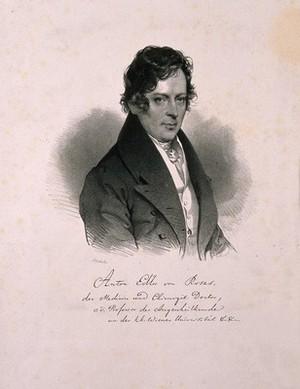 view Anton, Edler von Rosas. Lithograph by J. Kriehuber, 1834.