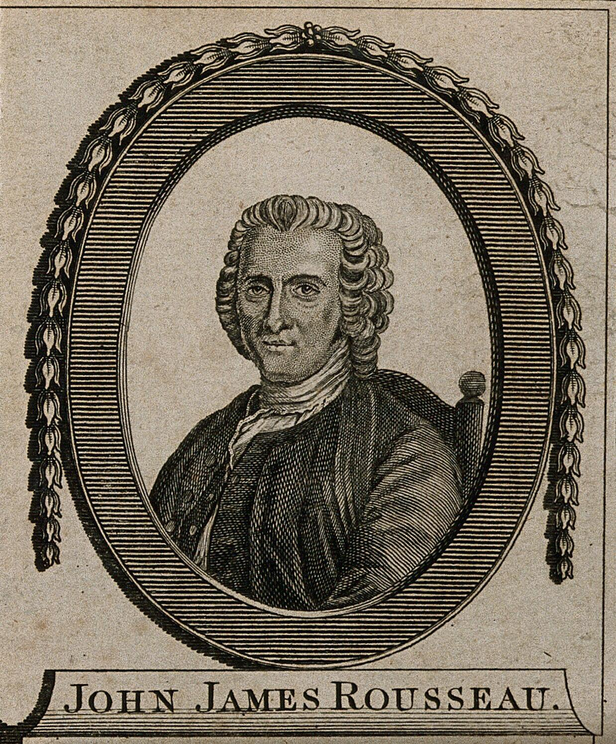 Jean Jacques Rousseau Engraving Wellcome Collection