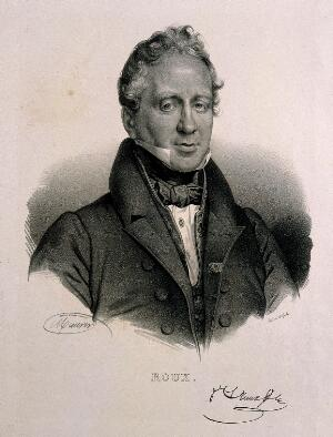view Philibert-Joseph Roux. Lithograph by N. E. Maurin after himself.