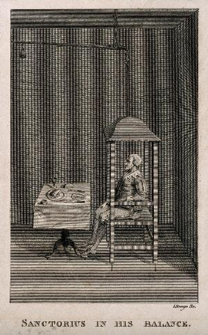 view Sanctorius Sanctorius. Line engraving by J. Beugo.