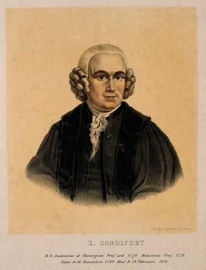 view Eduard Sandifort. Coloured lithograph.