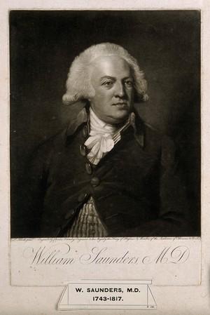 view William Saunders. Mezzotint by C. Townley, 1791, after F. L. Abbott.