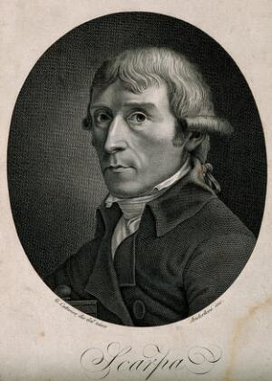 view Antonio Scarpa. Line engraving by F. Anderloni, 1801, after C. Cattaneo.