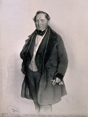 view Johann von Seeburger. Lithograph by J. Kriehuber, 1851.