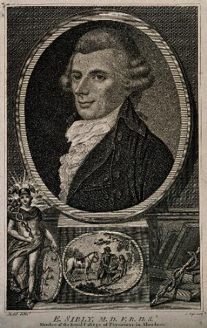 view Ebenezer Sibly. Stipple engraving by J. Pass, 1794, after D. Dodd.