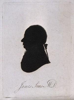 view James Sims. Aquatint silhouette, 1801.