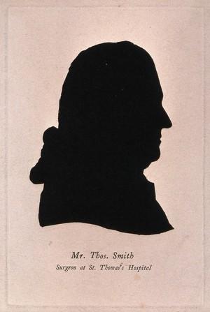 view Thomas Smith. Lithographic [?] silhouette.