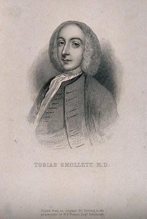 view Tobias George Smollett. Line engraving by R. C. Bell.