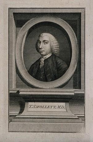view Tobias George Smollett. Stipple engraving by J. Wooding.