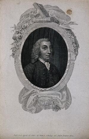 view Tobias George Smollett. Line engraving by W. Bromley, 1805.