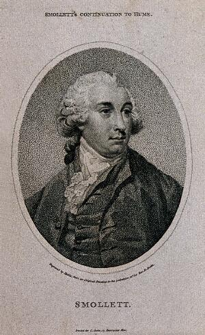 view Tobias George Smollett. Stipple engraving by W. Ridley.
