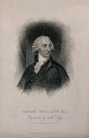 view Tobias George Smollett. Stipple engraving by R. Page, 1825.