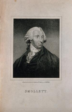 view Tobias George Smollett. Stipple engraving by G. Phillips.