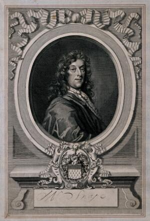 view Andrew Snape. Line engraving by R. White, 1683, after himself.