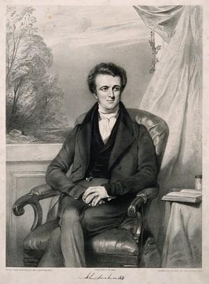 view John Sweatman. Lithograph by R. J. Lane after G. Richmond.