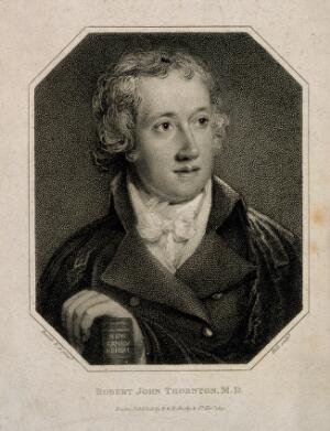 view Robert John Thornton. Stipple engraving by Holl, 1813, after J. Russell.