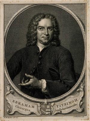 view Abraham Titsingh. Line engraving by J. Houbraken after J. M. Quinkhard, 1742.