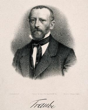 view Ludwig Traube. Lithograph by G. Engelbach.