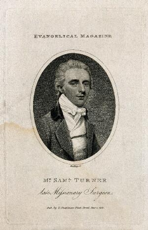 view Samuel Turner. Stipple engraving by W. Ridley, 1801.