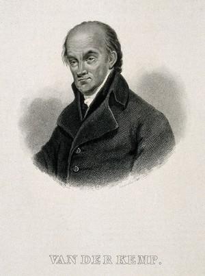 view Johannes Theodorus van der Kemp. Engraving after C. A. d'Hardiviller, 1835.