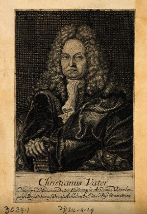 view Christian Vater. Line engraving.