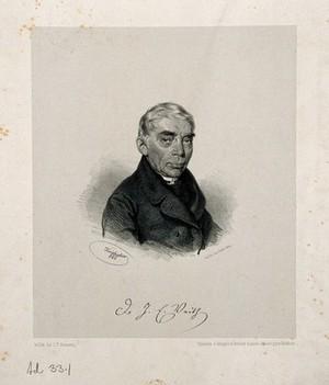 view Johann Emanuel Veith. Lithograph by J. Kriehuber, 1860.