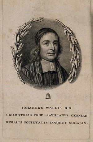 view John Wallis. Line engraving by G. B. Cipriani.