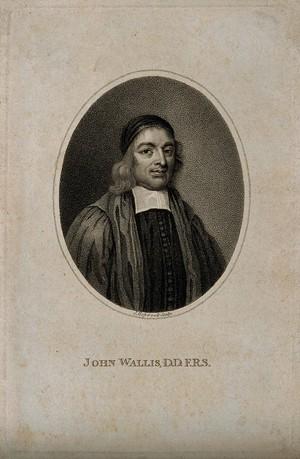 view John Wallis. Stipple engraving by J. Hopwood after G. B. Cipriani.