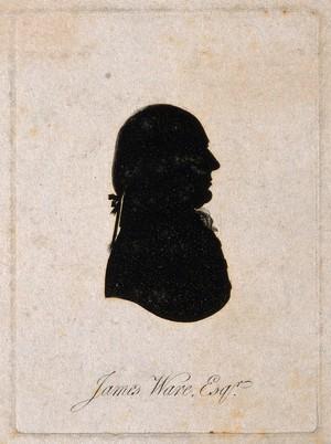 view James Ware. Aquatint silhouette, 1801.