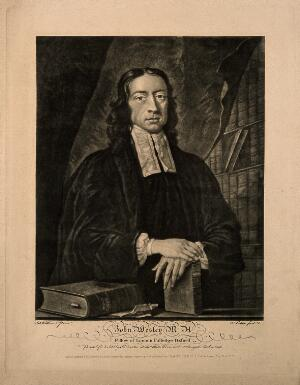 view John Wesley. Reproduction of mezzotint by J. Faber, junior, 1743, after J. Williams.