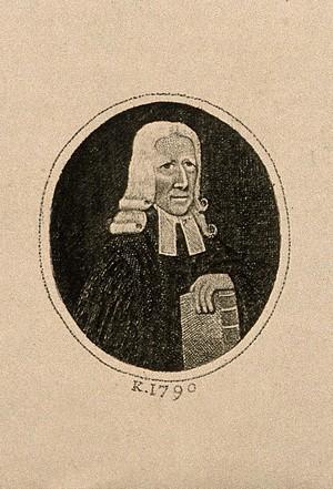 view John Wesley. Etching by J. Kay, 1790.