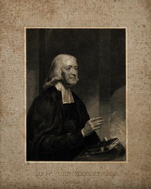 view John Wesley. Stipple engraving by W. T. Fry after J. Renton.