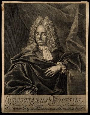view Christian von Wolff. Line engraving.