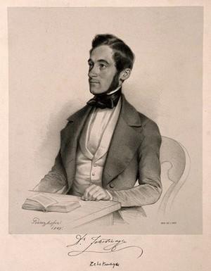 view Franz Zehetmayer. Lithograph by A. Prinzhofer, 1845.