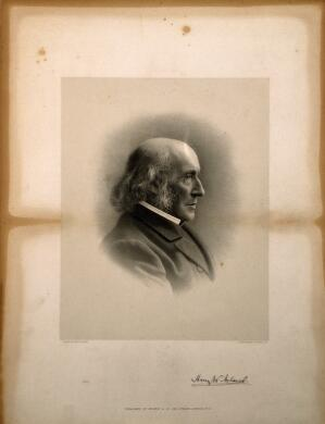 view Sir Henry Wentworth Acland. Lithograph by G. B. Black.
