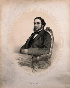 view William Orlando Markham. Lithograph by G. B. Black, 1862.