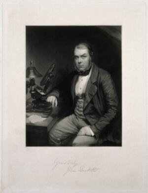 view John Thomas Quekett. Mezzotint by W. Walker after E. Walker.