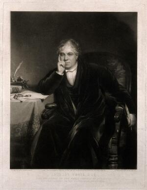 view Anthony White. Mezzotint by W. Walker, 1852, after T. F. Dicksee, 1843.