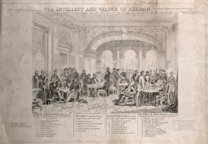 view A large group of British inventors, politicians and military men: a key to the identities of the sitters. Engraving by C.G. Lewis, 1863, after T.J. Barker.
