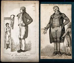 view Patrick O'Brien, a giant. Engraving,