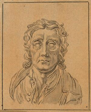 view John Locke: frontal view of bust. Drawing, c. 1789, after D.N. Chodowiecki.
