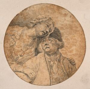 view Head of Saul at the moment he falls from his horse and is converted to Christianity. Drawing, c. 1789.