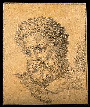 view The head of Hercules. Drawing, c. 1792.