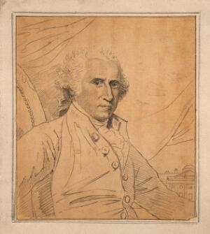 view Benjamin West: portrait. Drawing, c. 1798, after B. West.