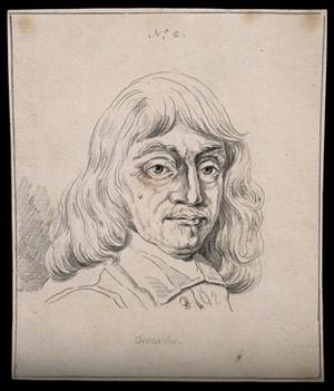 view René Descartes: portrait. Drawing, c. 1794.