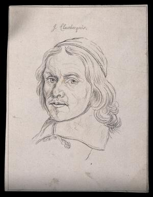view Johannes Claubergius: portrait. Drawing, c. 1793.