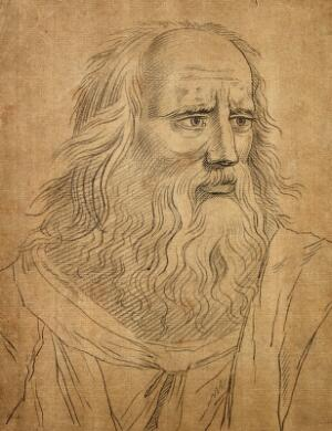 view Plato. Drawing after Raphael, ca. 1793.